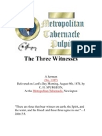the three witnesses by c h  spurgeon