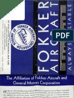 Fokker Monoplanes Catalog (1929)