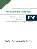Historia de la Psicología-Antecedentes filosóficos