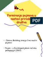 Formiranje Pojmova u Nastavi Prirode i Drustva-prezentacija
