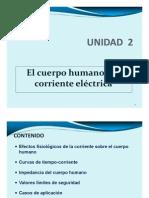 UNIDAD 2-El cuerpo humano y la corriente eléctrica