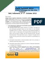 Invitation Letter Interfaith Summit 2012