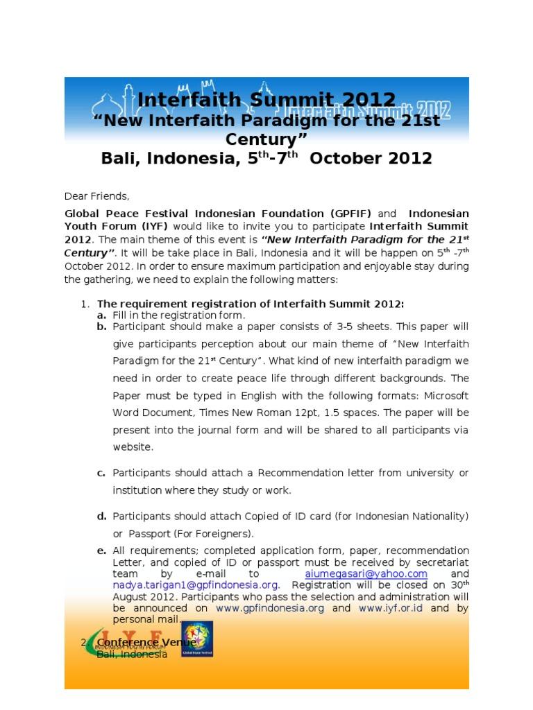 Invitation letter interfaith summit 2012 interfaith dialogue invitation letter interfaith summit 2012 interfaith dialogue peacebuilding stopboris Image collections