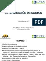 DETERMINACIÓN DE COSTOS