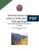 Informe Tecnico de La Salida de Campo