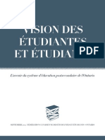 Fédération canadienne des étudiantes et des étudiants-Ontario (FCÉÉ-O) - Vision des étudiantes et étudiants - L'avenir du système d'éducation postsecondaire de l'Ontario - septembre 2012