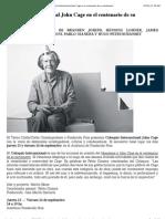 John Cage - Fundación Proa - Coloquio Internacional en el centenario de su nacimiento