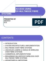 Broadband Access Using Wireless Over Multimode Fibre Systems