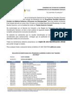 PADRÓN GUERRERO CUMPLE REGIÓN COSTA GRANDE, MUNICIPIO COYUCA DE BENÍTEZ
