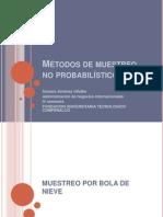 Métodos de muestreo no probabilístico