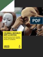 Colombia Invisibles Ante La Justicia 2012