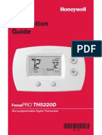 TH522 Non-Programable Digital Thermostat Installation Guide