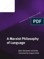 A Marxist Philosophy of Language- j.-j.Lecercle [Brill-2006]
