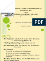 Case Study on Construction Contracts