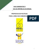 CFP - propostas de politicas para a comunicação - aos candidatos a presidencia 2006