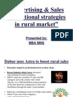 advertisingsalespromotionalstrategiesinruralmarket-090420093644-phpapp02
