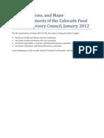 january 2012 cofsac report final