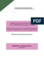 Memoria Portfolio 2012-IES Federico García Bernalt