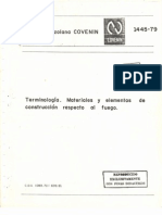 Covenin 1445-79 Terminologia , Materiles y Elementos de Construccion Respecto Al Fuego