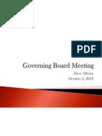 GPS Board Meeting 10022012