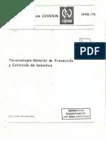 Covenin 1446-79 Terminologia Material de Prevencion y Extincion de Incendios
