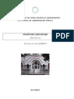 Drept Institutional Comunitar, AN I, FAP, SNSPA