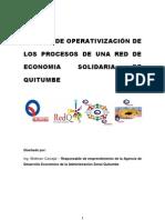 Manual de Funcionamiento de La Red de Economia Solidaria de Quitumbe