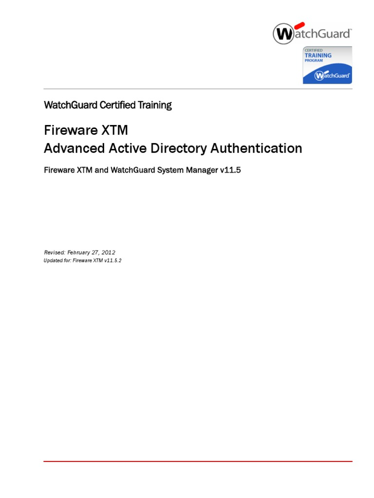 Advanced ad authentication xtm v11 5 2 active directory virtual private network