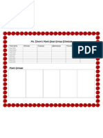 Small Group Schedule Template