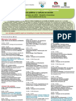 Programa V JornadasCiudadesCreativas, Medellín 2012 blog