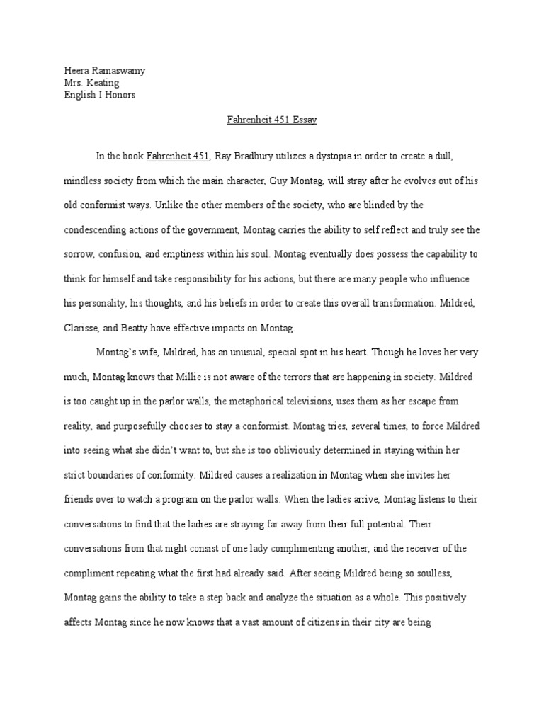 What Is A Thesis Statement In A Essay Fahrenheit  Essay Science Philosophical Science  Fahrenheit   Essay Synthesis Essay Topics also Example Of A Essay Paper English Essay For Fahrenheit  An Argumentative Essay Topic How  English Debate Essay
