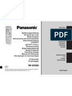 Panasonic RR-US360 - Vários idiomas