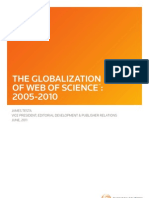 The Globalization of Web of Science