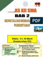 Kls XII BAB II Sistem Pemerintahan
