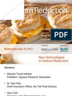 New Technologies in Sodium Reduction 92012