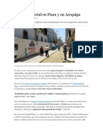 Boom Comercial en Piura y en Arequipa