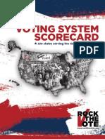 VOTING SYSTEM SCORECARD