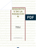 Requisitos de La Redaccion