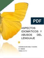 Aspectos Idiomaticos y Abusos en El Lenguaje