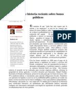 Historia Reciente Bonos Públicos Dominicanos