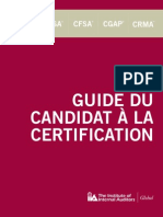 Certification Candidate Handbook French