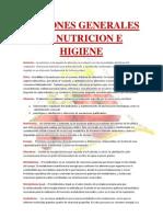 Nociones Generales de Nutricion e Higiene