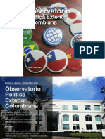 Observatorio Política Exterior Colombiana. Boletín N°3. Issn
