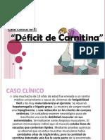 Deficit de Carnitina