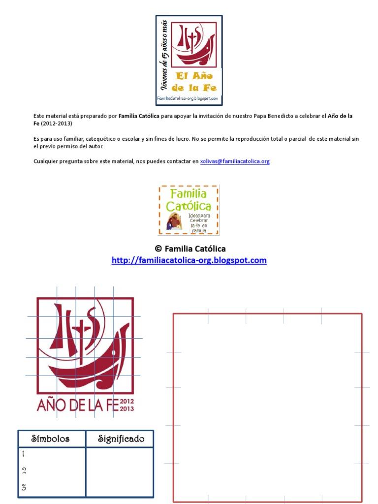 Lapbook Presentación Año Fe - jóvenes 15 años