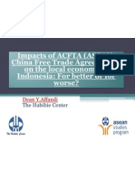 Impacts of ACFTA on the Local Economy in Indonesia