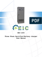 RBC-1200 Three Phase Rectifier/Battery Charger User Manual