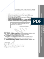 Professor of Language and Culture Studies CV