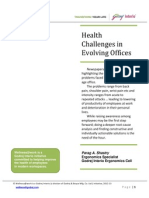 Health Challenges in Evolving Offices