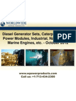 Diesel Generator Sets, Caterpillar XQ2000 Power Modules, Industrial, Natural Gas & Marine Engines, etc. - October 2012